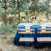 Wypożyczalnia obrusów na ślub, granatowy obrus na ślub