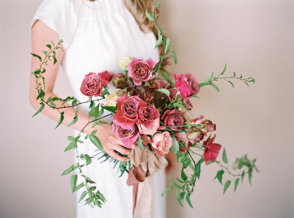 Bukiet ślubny z różami angielskimi wabara, Wabara Aoi bouquet