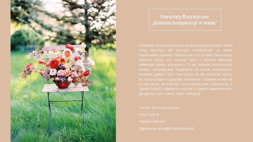 Warsztaty florystyczne Poznań, kurs układania kwiatów w Poznaniu, kurs florystyczny