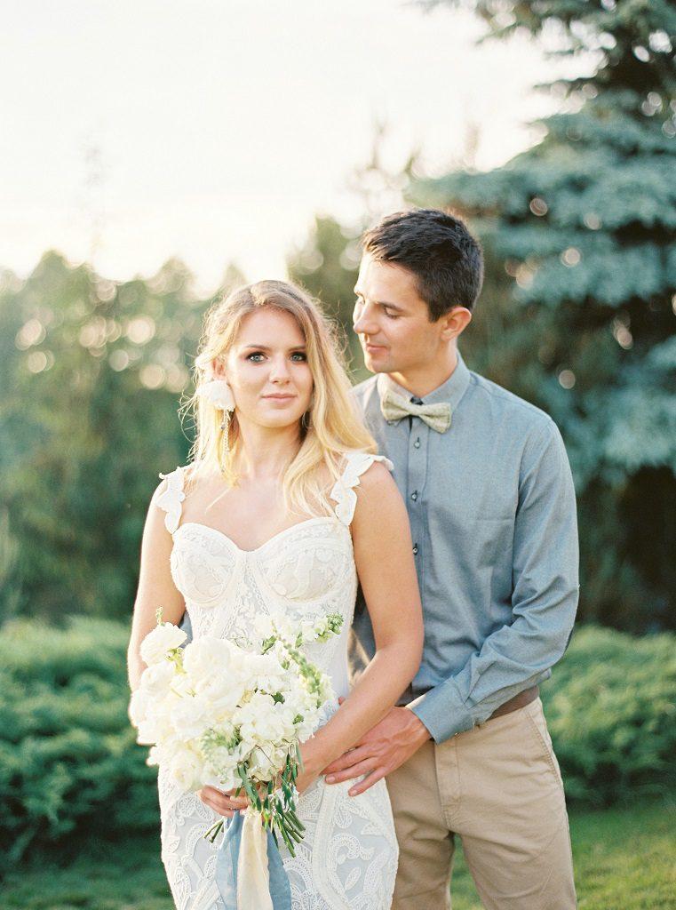 weranda home wesele, biały bukiet ślubny