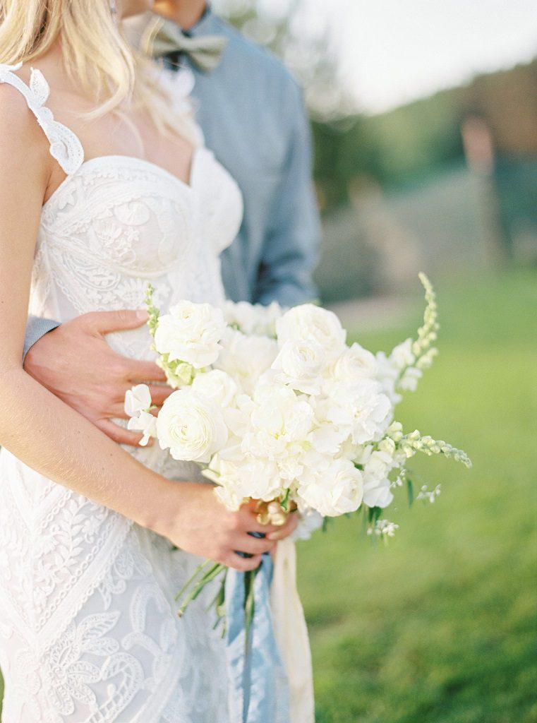 weranda home wesele, biały bukiet ślubny poznań