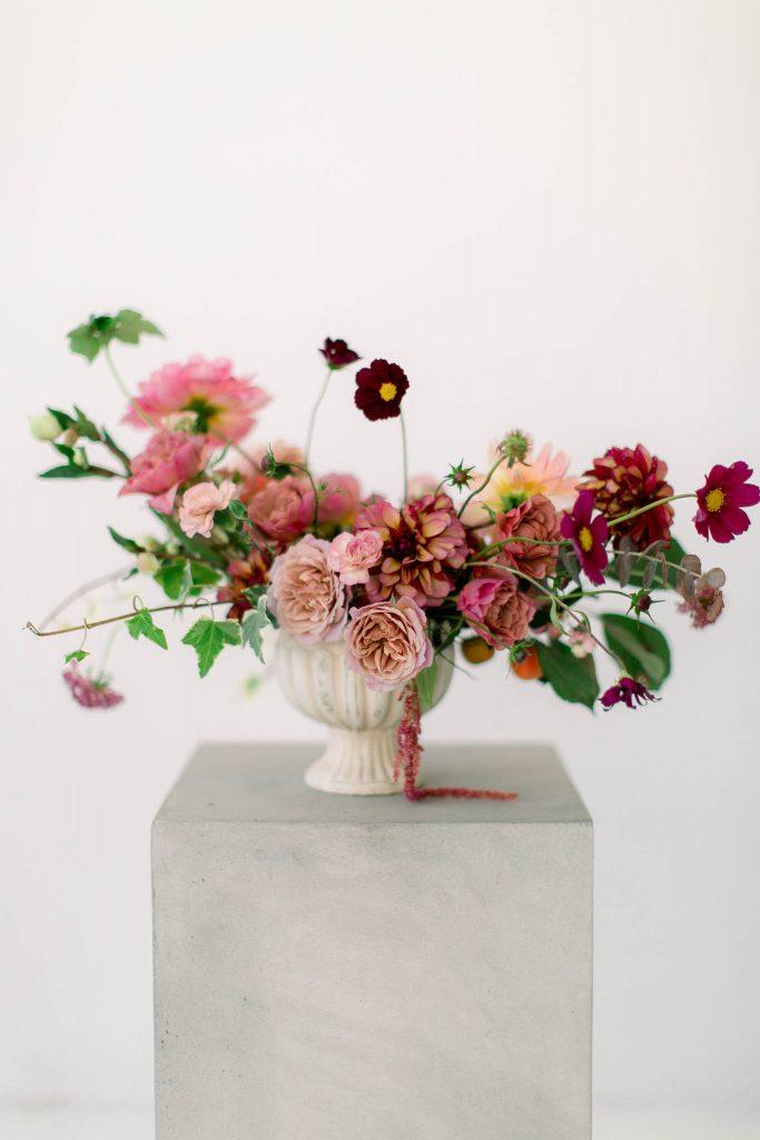 Ślubne warsztaty florystyczne kompozycje jesienne Flower Stories