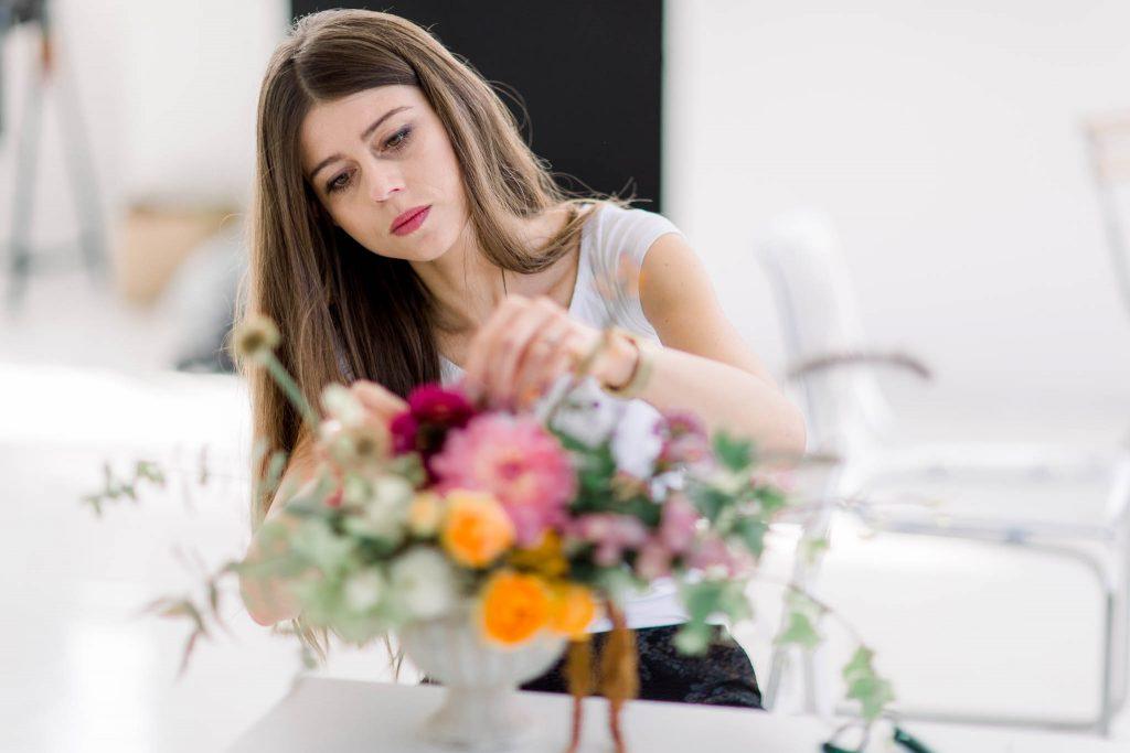 Warsztaty florystyczne Flower Stories, kompozycje kwiatowe