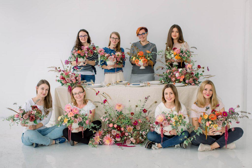 warsztaty florystyczne kompozycje jesienne, warsztaty florystyki ślubnej Flower Stories w Poznaniu