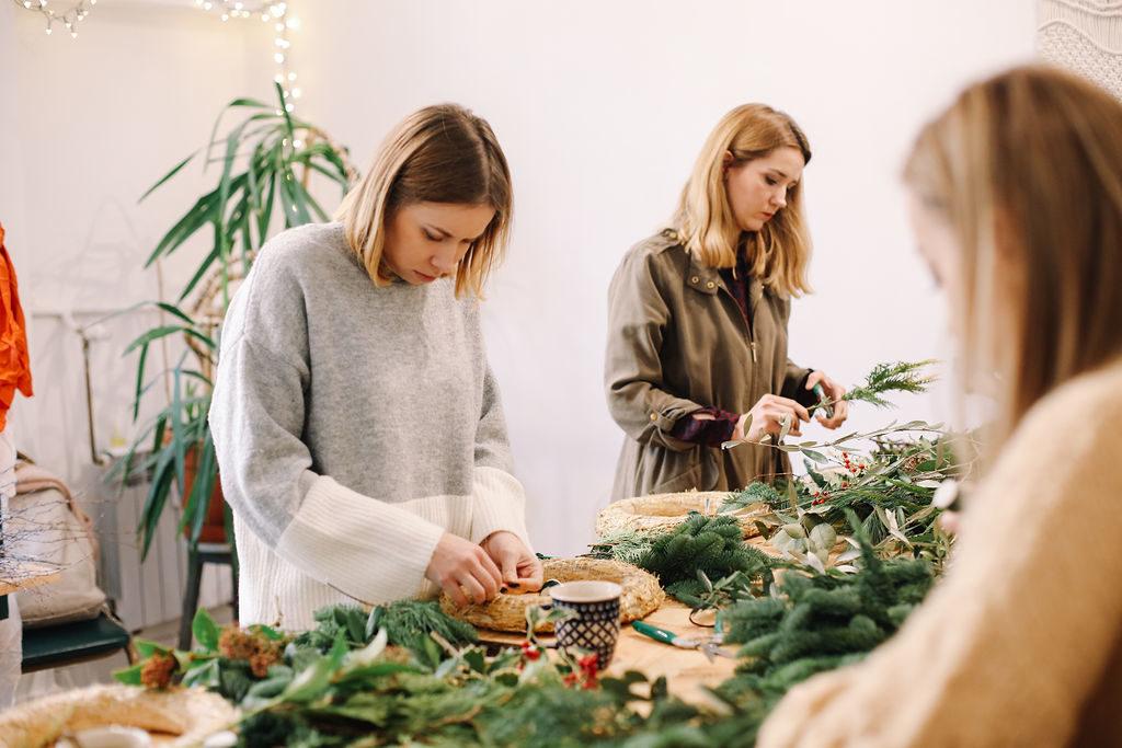 jak zrobić świąteczny wianek